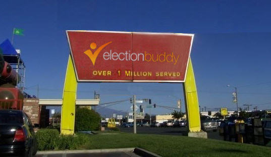 ElectionBuddy sign