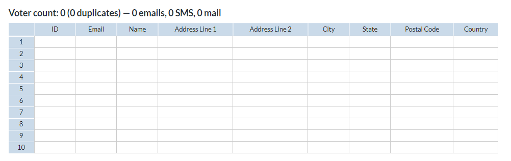 Keeping the emails on your voter list up to date is important to help negate spam issues